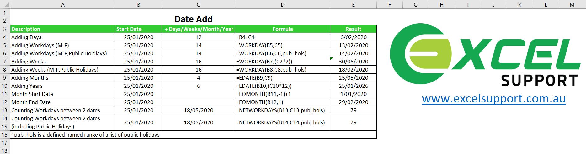 Add Dates in