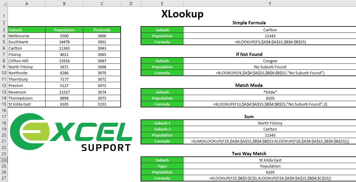 Xlookup Excel